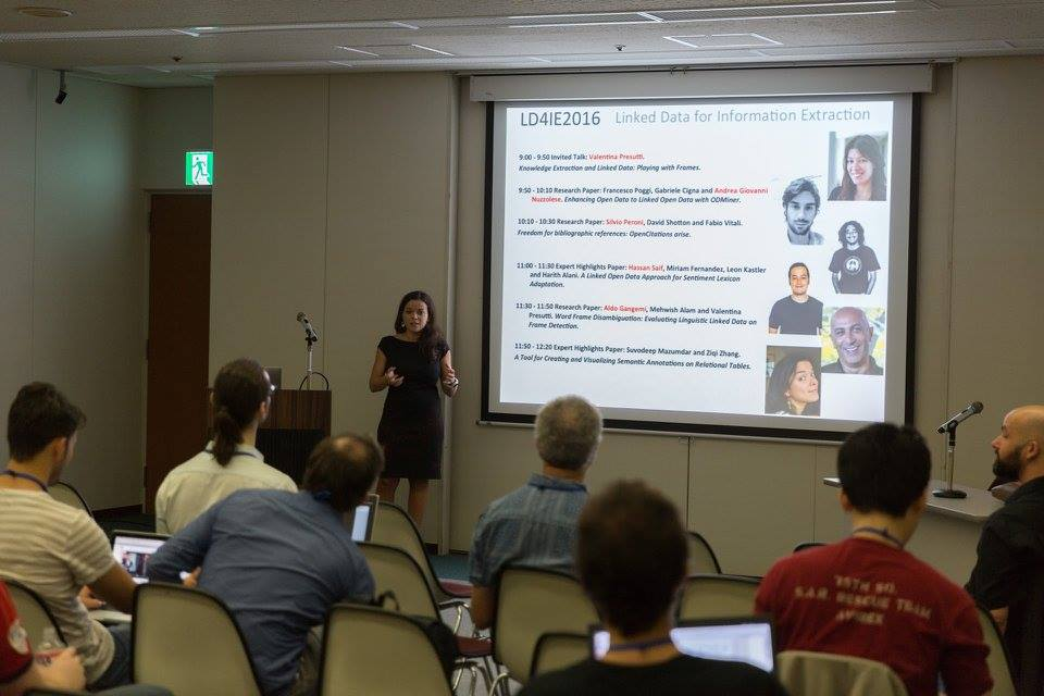 Image showing Anna Lisa Gentile at the 4th LD4IE workshop at ISWC 2016
